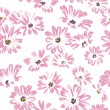 Pattern rose daisywheels on white background raster — 图库照片