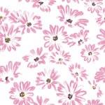 Muster rose Daisywheels auf weißem Hintergrund raster — Stockfoto