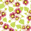 Raster floral pattern flower pansy — Stock Photo