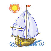 Boat with sail — Stock Photo