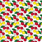 Cherry pattern small — Stock Photo
