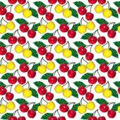 Cherry pattern small — Stock Photo