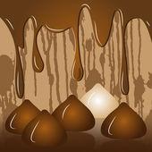 Chocolate sweetmeats to truffles raster — Stock Photo