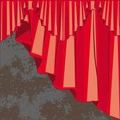 Curtain drapes raster — Stock Photo