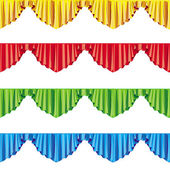 Curtain drapes lambrican color raster — Stock Photo