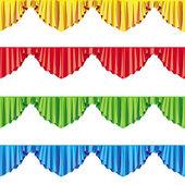 Curtain drapes lambrican color raster — Stock Photo