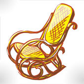 Easy chair color raster — Stock Photo