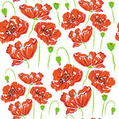 Pattern flower poppy, anemone raster — Stock Photo