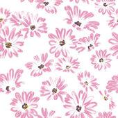 Pattern rose daisywheels on white background raster — Stock Photo