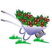 Wheelbarrow, pushcart garden raster — Stock Photo