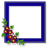 Raster frame branch pansy — Stock Photo