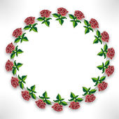 Roses on circle — Stock Photo