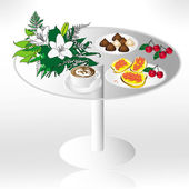 Table raster — Stock Photo