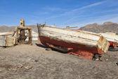 Abandoned fishing boat — Stock Photo