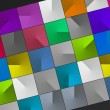 Stock Photo: Cubes background, multicolor cube