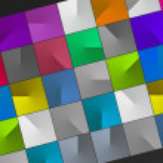 多色多维数据集的多维数据集背景 — 图库照片