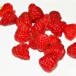 Raspberries fruit on white background — Stock Photo