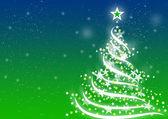 Christmas background DXM Blue-Green — Stock Photo