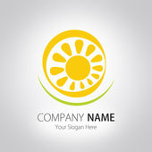Company (Business) Logo Design, Vector — Stock Vector