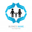 Company (Business) Logo Design, Vector, Peoples — Stock Vector #11828316