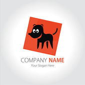 Company (Business) Logo Design, Vector, Dog — Stock Vector