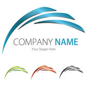 Company (Business) Logo Design, Vector, Arc, Wing — Stock vektor