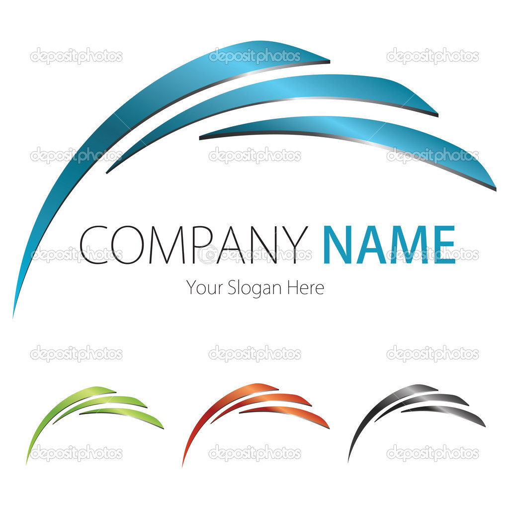 Company Business Logo Design Vector Arc Wing Stock