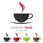 Company (Business) Logo Design, Vector, Cup of coffee — Stock Vector