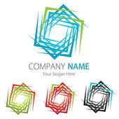 Company (Business) Logo Design, Vector, Cubes — Stock Vector