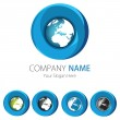 Company (Business) Logo Design, Vector, Circle, Earth  — Stock Vector