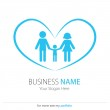 Company (Business) Logo Design, Vector, Heart, Peoples, Family — Stock Vector #11986297