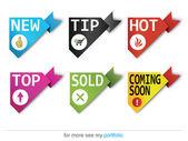 Corner ribbons - Sign-Symbol-Vector - New,Sold,Hot,Sale — Stock Vector