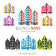 Company (Business) Logo Design, Vector, Buildings — Векторная иллюстрация