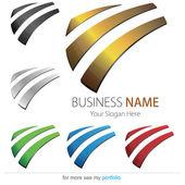Company (Business) Logo Design, Vector. Arc — Stock Vector