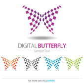 Company (Business) Logo Design, Vector, Butterfly — Stock Vector