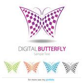 Company (Business) Logo Design, Vector, Butterfly — Stock Vector