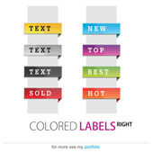 Product Labels, New, Top, Best, Hot, Sold, Vector — Stock Vector