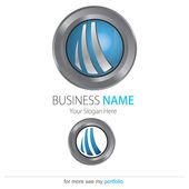 Company (Business) Logo Design, Vector, Circle, Ring, Arcs — Stock Vector