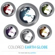 Company (Business) Logo Design, Vector, Globe, Earth — Stock Vector
