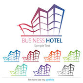Company (Business) Logo Design, Vector, Hotel, House, Building — Stock Vector