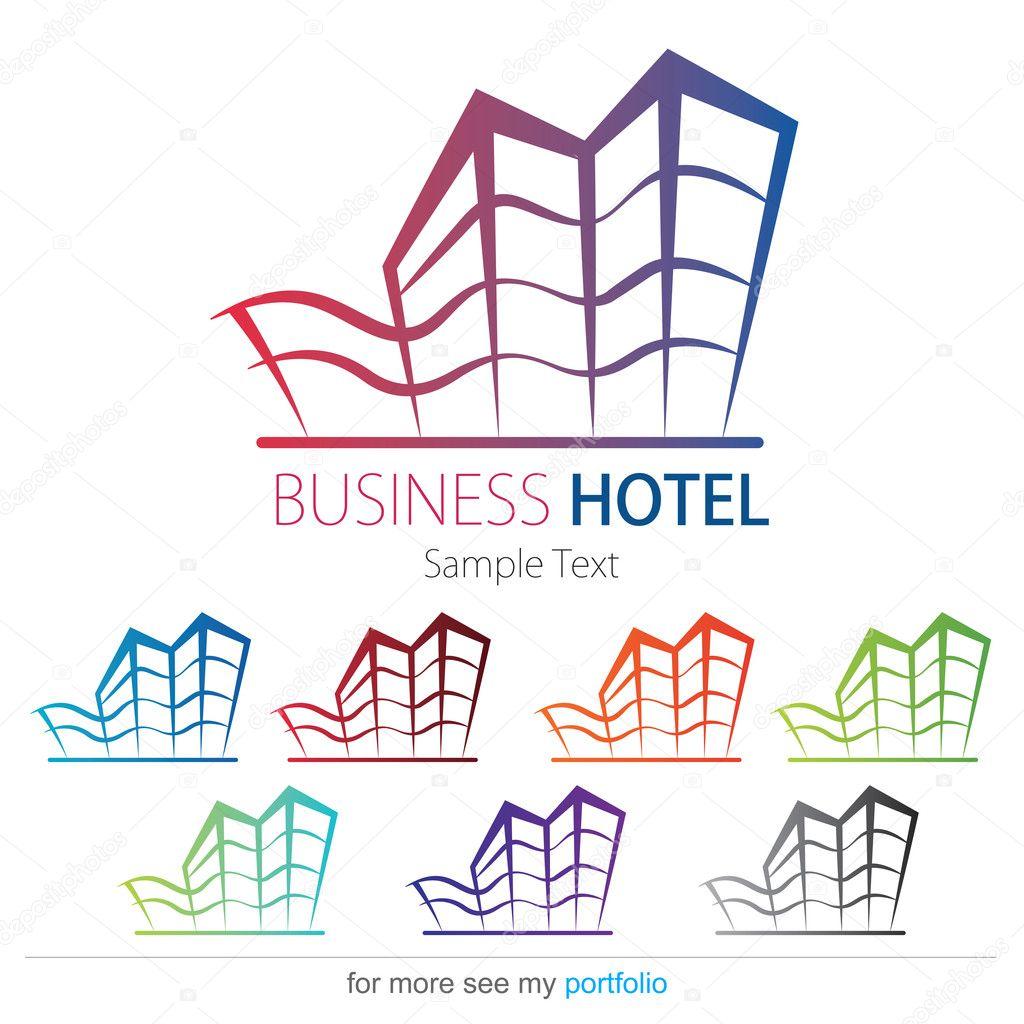 Company business logo design vector hotel house for Design hotels logo