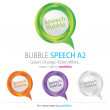 Bubbles Speech, Vector - Stock Vector