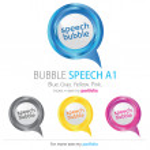 Bubbles Speech, Vector — Stock Vector