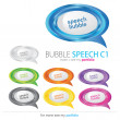 Bubbles Speech, Vector — Stockvectorbeeld