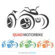 Stock Vector: Quad MotorBike, Vector, Sign, Symbol