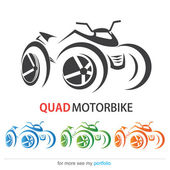 Quad MotorBike, Vector, Sign, Symbol — Stock Vector
