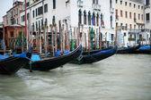 Venezia gondola boats — Stock Photo