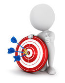3d white hit the target — Stock Photo