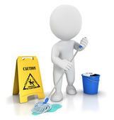 3d white cleaner — Stock Photo