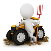 3d white farmer — Stock Photo